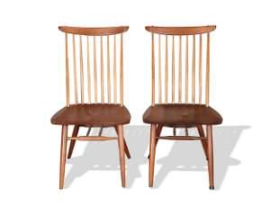 """Pair of George Nakashima """"New Chairs"""" C-1958"""