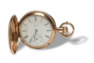 14K Gold Elgin 1879 Presentation 8s Pocket Watch