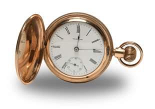 Waltham 7 Jewel 14K Gold 18S Pocket Watch
