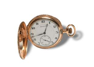 14K Gold Burlington 21 Jewel 16s Pocket Watch