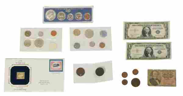 US Coin & Currency Lot, Silver, Fractional Etc.