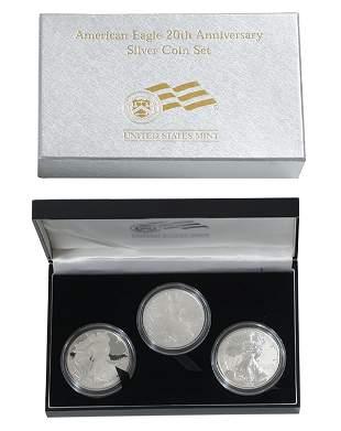 American Eagle 20th Anniversary Silver Set
