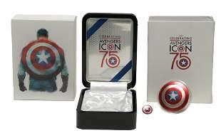 2016 Fiji $2 Silver Marvel Captain America Proof