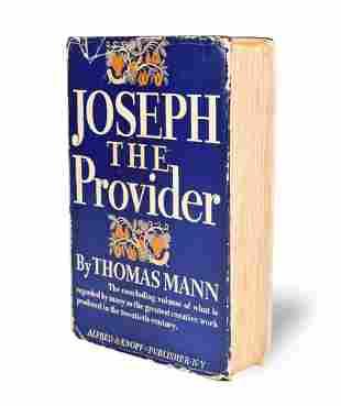 """Joseph the Provider"" Thomas Mann Signed 1st US Ed"