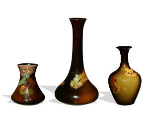 3 Pieces of Art Pottery, Weller and Roseville