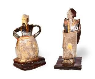 2 Gouda Figures by Amp Smit for N.V. Koninklijke