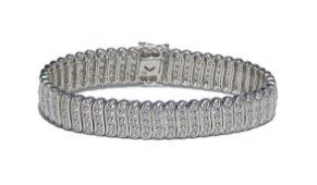 14K White Gold & 9 Carat Diamond Bracelet