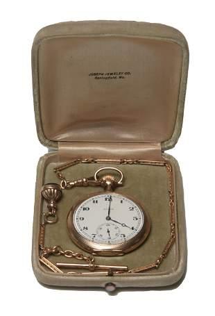 Illinois 17J, 12S GF Pocket Watch & Chain
