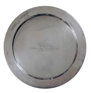 Sterling Silver United Nations Presentation Tray