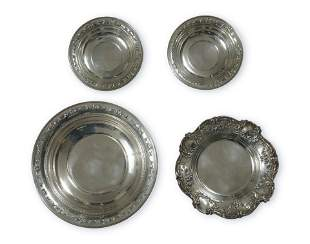 4 Gorham Sterling Silver Dishes