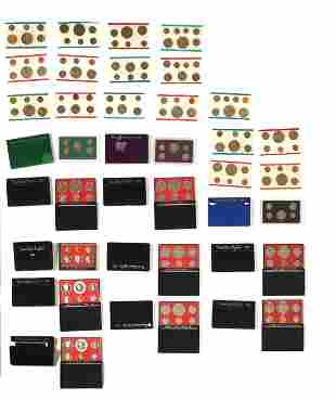 29 Sealed United States Proof & UNC Coins Sets