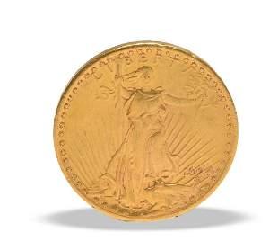 1924 Saint Gaudens $20 Gold Double Eagle AU