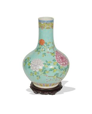 Chinese Famille Rose Tianqiu Vase, 19th Century