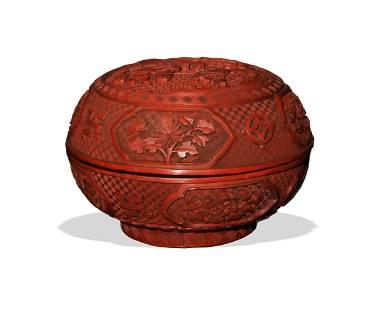 Chinese Cinnabar Box, 19th Century