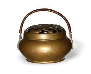 Chinese Bronze Hand Warmer, 18-19th Century