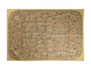 Chinese Yellow Silk Seat Cover, 18th Century