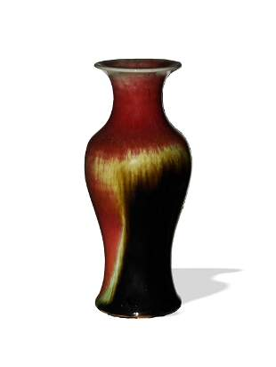 Chinese Flambe Vase, Late 19th Century