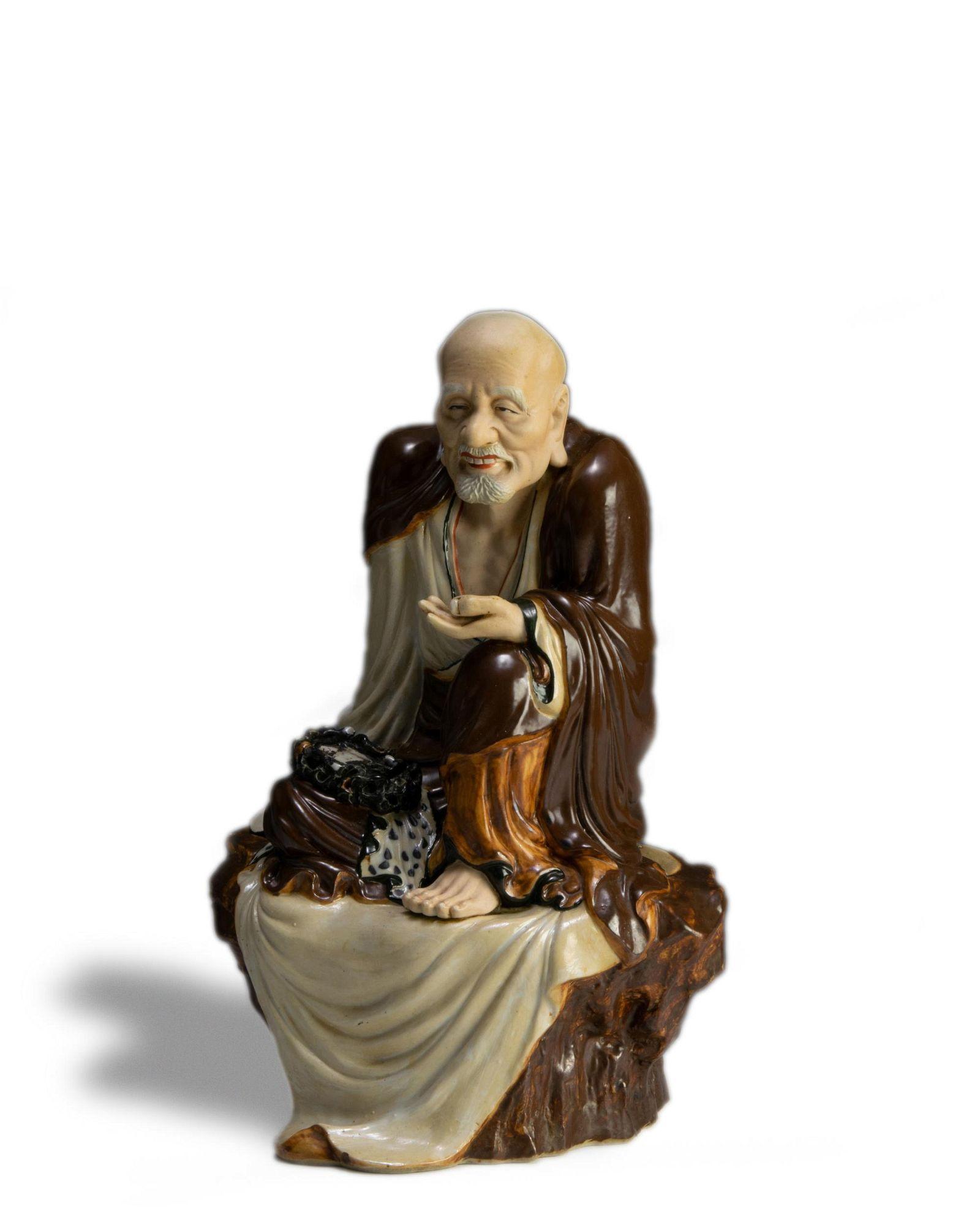 Chinese Porcelain Luohan, Zeng Longsheng
