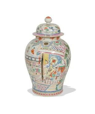 Chinese Famille Rose General Jar, 19th Century