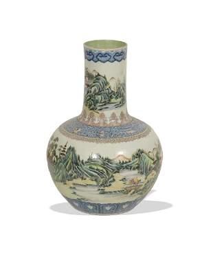 Chinese Underglaze Porcelain Vase, 19th Century