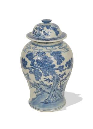Chinese Blue and White Ginger Jar, 18-19th Century