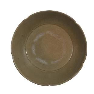 Chinese Yue Kiln Celadon Plate, Five Dynasties