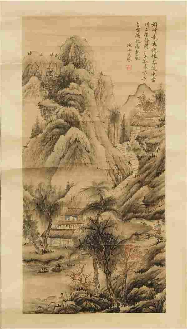 Chinese Landscape Painting attrib. Wu Li