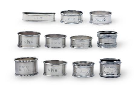 11 Sterling Silver Napkin Rings