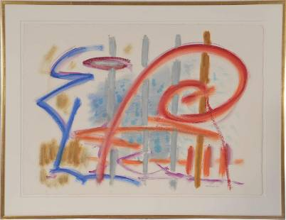 """Jacob Kainen """"Fifine"""" Abstract Acrylic on Paper"""