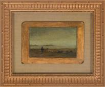 Thomas Moran (1837-1926), Oil on Board Landscape