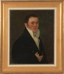 Oil on Canvas Portrait of a Gentleman, 19th Century