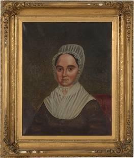 Oil on Canvas Portrait of Elizabeth Rogers Phillip