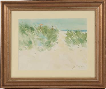 """Andre Gisson, Watercolor, """"Sand Dunes"""""""