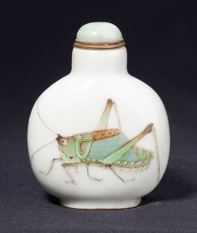 A porcelain  snuff bottle	 Daoguang period