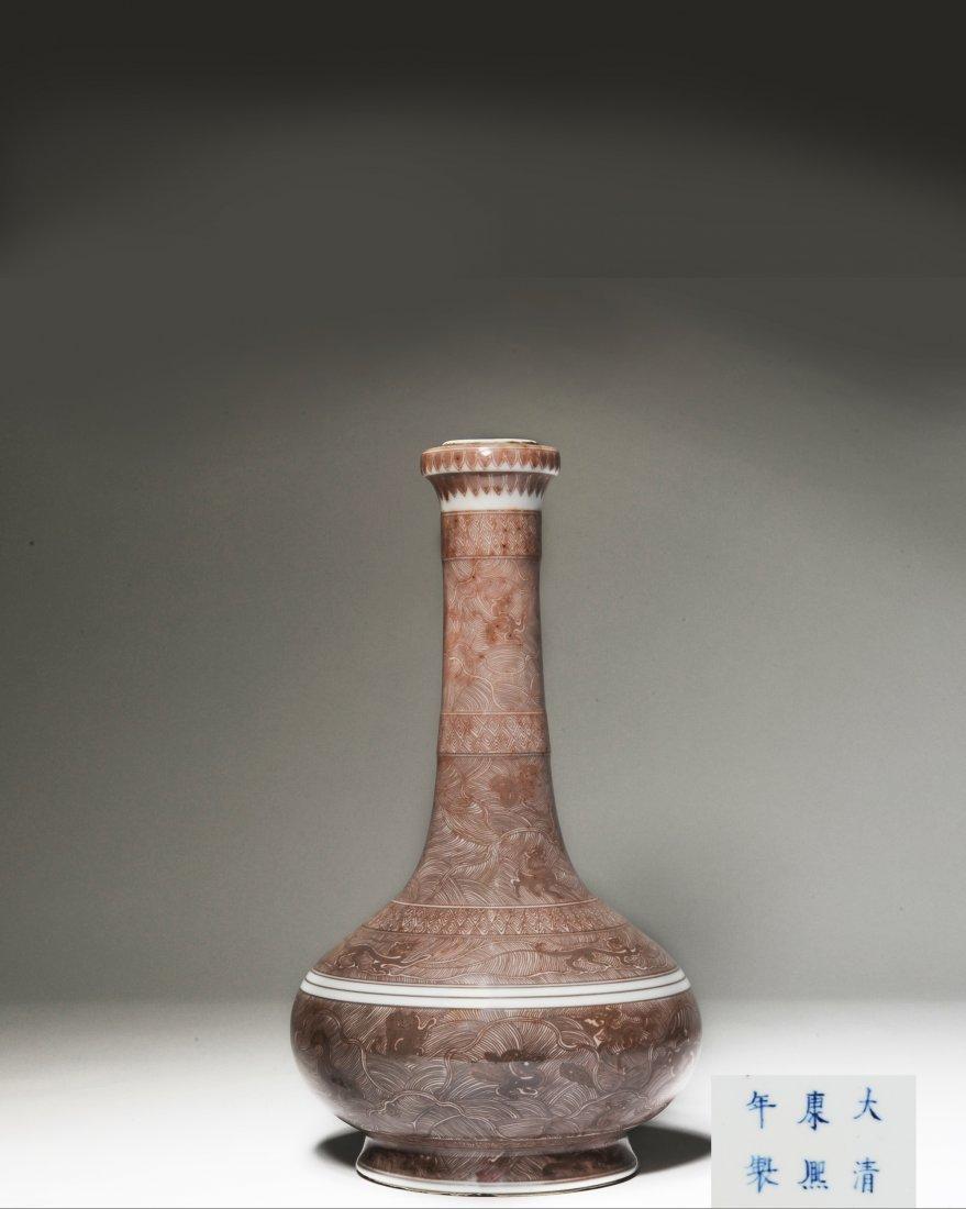 Imperial Garlic Head Vase, Kangxi Period