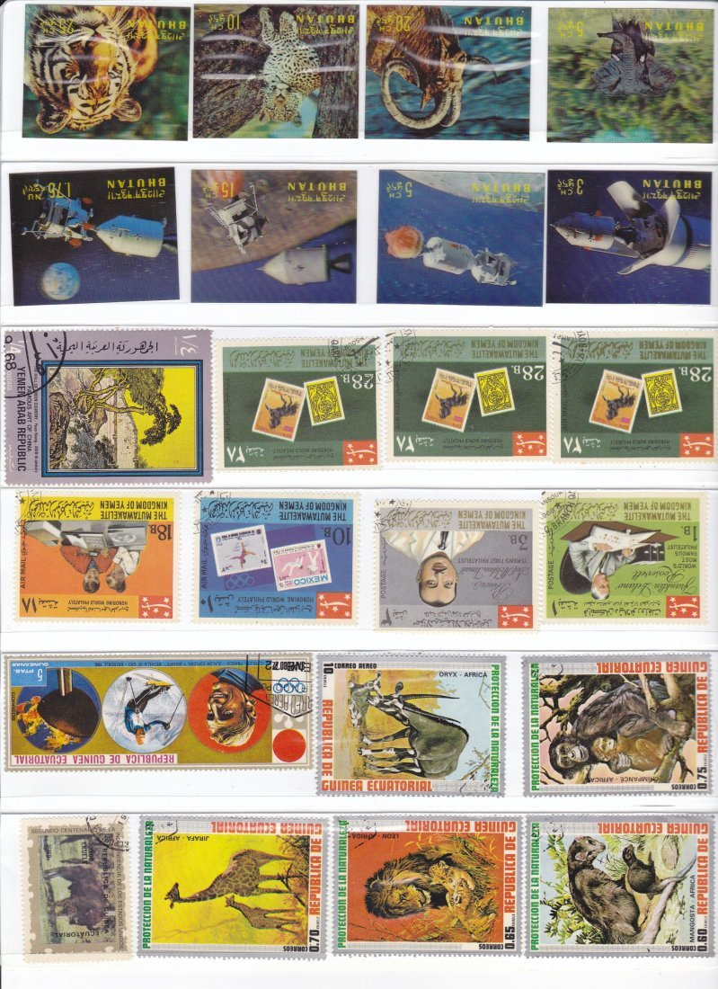 An Album of Postage Stamps from Around the World