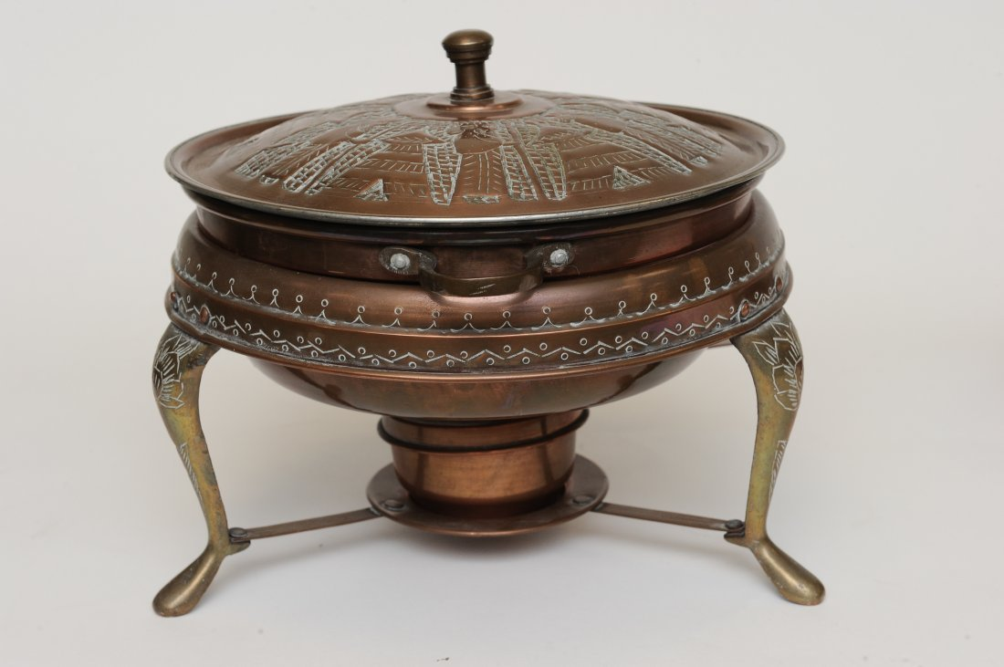 A Persian 5 Piece Copper Fondue Pot Set - 2