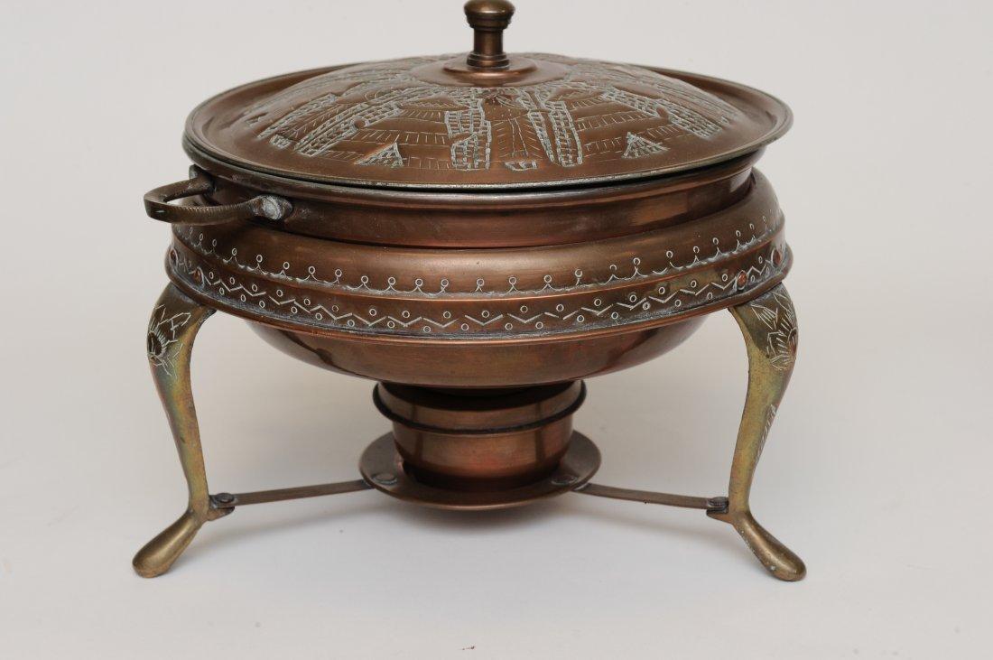 A Persian 5 Piece Copper Fondue Pot Set - 3