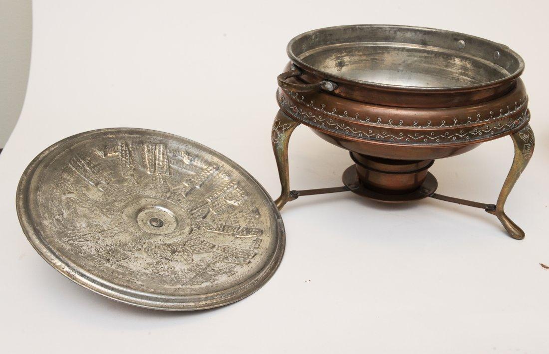 A Persian 5 Piece Copper Fondue Pot Set - 4