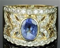 LEVIAN 18K Gold Tanzanite & Diamond Ring