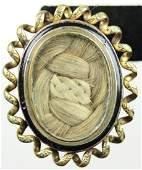 10K Gold Victorian/Civil War Mourning Brooch
