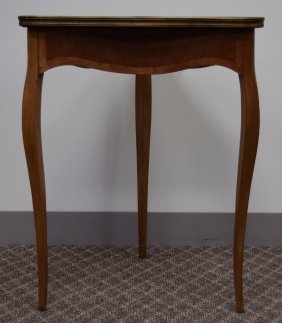 Triangular Marquetry Side Table