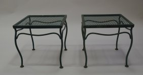 Blue-green Metal Patio Tables