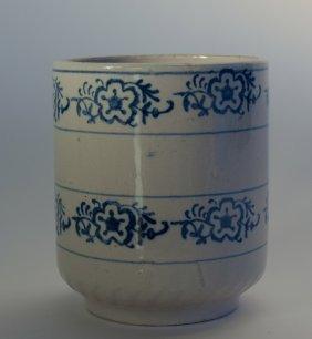 Blue & White Ceramic Salt Pot
