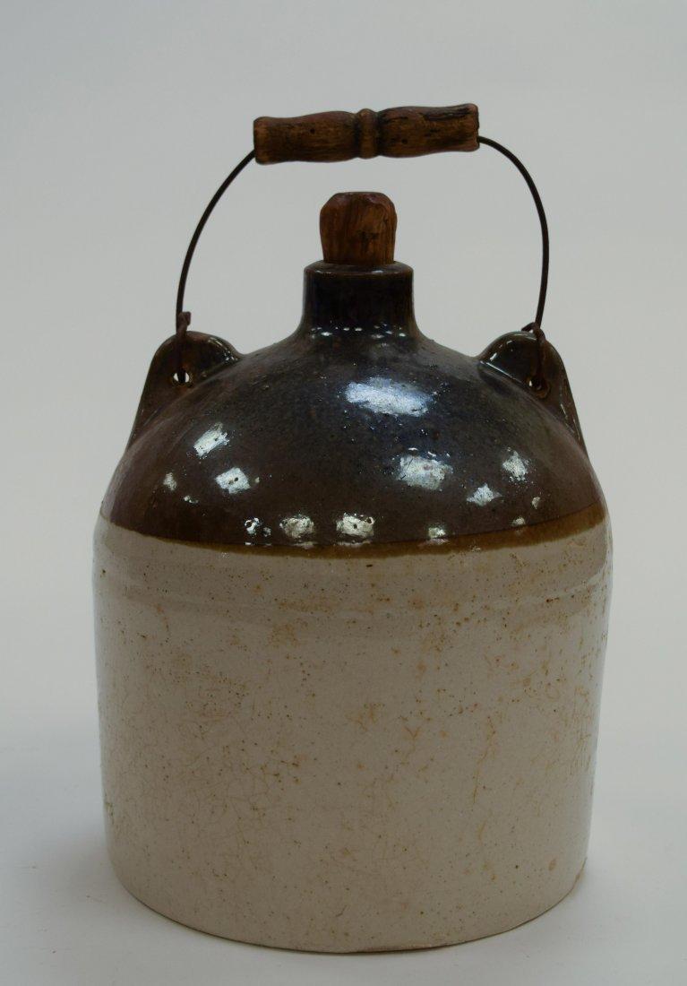 Stoneware Whiskey Jug with Cork, 19th C.