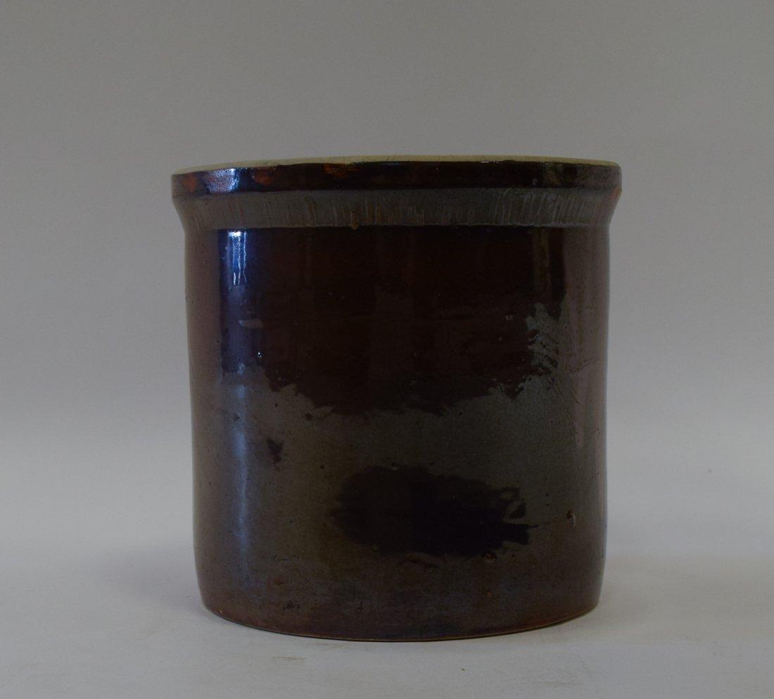 Short Albany Style Glazed Stoneware Crock