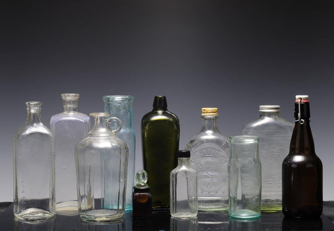 Group of Eleven Vintage Bottles