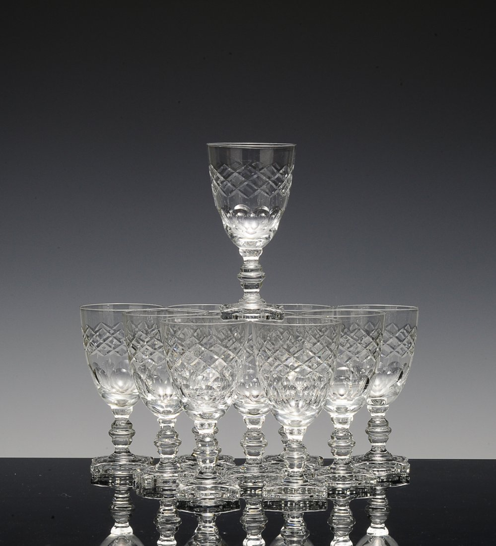 (10) Cross Pattern Crystal Champagne Glasses