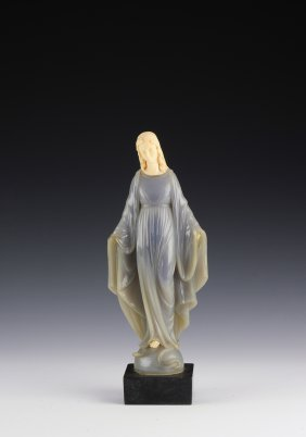 Alabaster Mary Statue By G. Ruggeri