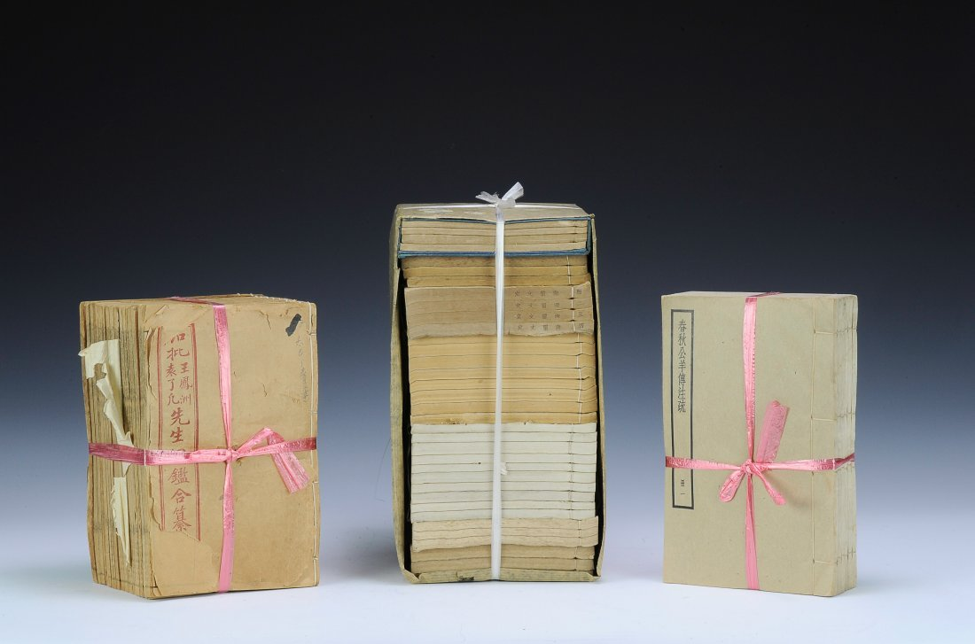 Three Sets of Old Books,19th - Early 20th Century